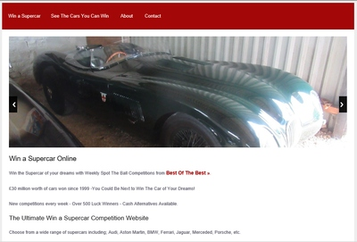 win a supercar website